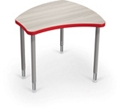 """Adjustable Height Desk with Colored Edge Banding - 34.9""""W, 16212"""