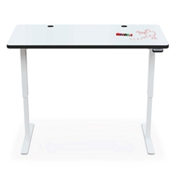 "Electric Height Adjustable Curve Top Desk - 60""W x 30""D, 16192"