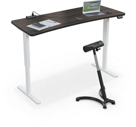 "Electric Height Adjustable Curve Top Desk - 72""W x 30""D, 16193"