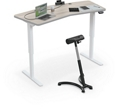 "Electric Height Adjustable Chevron Top Desk - 68""W x 32""D, 16195"