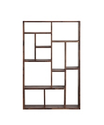 "12 Compartment Bookcase Solid Walnut - 55""H, 33090"