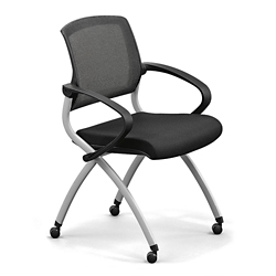 Nex Polyurethane Nesting Chair with Arm and Mesh Back, 51658