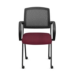 Nex Fabric Nesting Chairs with Arms and Mesh Back - Set of Four, 51662