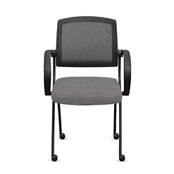 Nex Fabric Nesting Chairs with Arms and Mesh Back - Set of Six, 51663