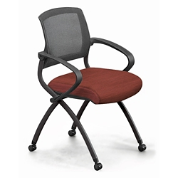 Nex Fabric Nesting Chair with Arm and Mesh Back, 51659