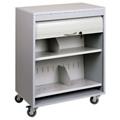 """Locking Mobile Medical File Cart - 26""""W, 26107"""