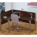 "Left L-Desk with Two 43""H Privacy Panels, 13208"