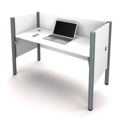 "Single Workstation with Three 43""H Privacy Panels, 13233"