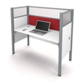 "Single Workstation with 55.5""H Tack Board Panel, 14457"