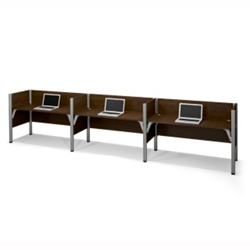 "Triple Workstation with Seven 43""H Privacy Panels, 13235"