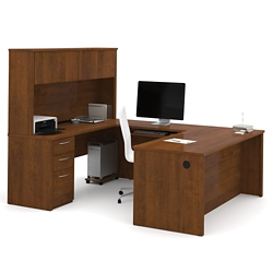 Reversible Executive U-Desk with Hutch, 10110