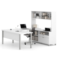 "U-Desk with Hutch - 71.1""W, 14489"