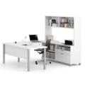 """U-Desk with Hutch - 71.1""""W, 14489"""