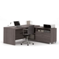 "L-Desk with Drawers - 71""W, 14492"