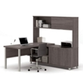 "Two Door L-Desk with Hutch - 71.1""W, 14495"