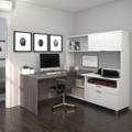 """L-Desk with Hutch - 71""""W, 14500"""