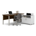 "Pro Linea L-Desk with Drawers - 71.1""W, 14488"