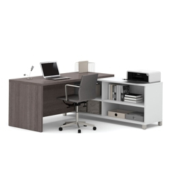 "Pro Linea Four Shelf L-Desk - 71""W, 14482"