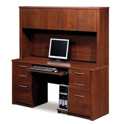 Computer Credenza with Hutch, 13416