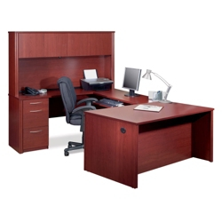 Reversible U-Desk with Hutch, 13421