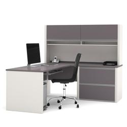 L Desk With Hutch 15979