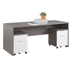 "Boardwalk Executive Desk with Two Mobile Pedestals - 71.1""W, 16003"