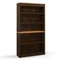"""65.9""""H Five Shelf Two-Tone Bookcase, 32970"""