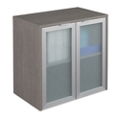 "Boardwalk Hutch with Frosted Glass Doors - 30.1""W, 36935"