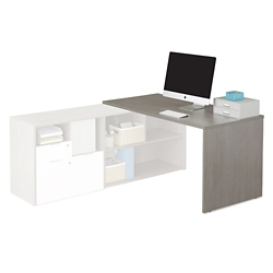 "Boardwalk Desk Return with Panels - 59.3""W, 46826"