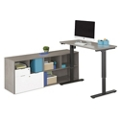 "Boardwalk Adjustable Height L-Desk - 72""W, 46832"
