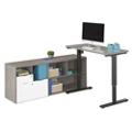 """Boardwalk Adjustable Height L-Desk - 72""""W, 46832"""