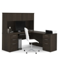 Reversible Executive L-Desk with Hutch, 10109