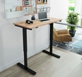 "Adjustable Height Desk with Solid Wood Top - 48""W x 24""D, 16217"