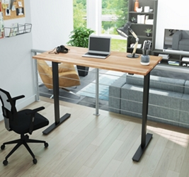 "Adjustable Height Desk with Solid Wood Top- 60""W x 29.5""D, 16216"
