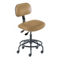 Armless Vinyl Task Chair with Footrest, 26685
