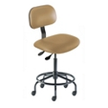 Armless Vinyl Task Stool with Footrest, 26687