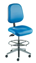 Armless Task Stool with Vacuum-Formed Seat and Back, 26690