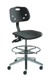 Polypropylene Task Stool with Footring, 26694