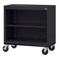 """Mobile Two Shelf Bookcase - 36""""H, 32979"""