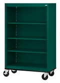 "Mobile Four Shelf Bookcase - 58""H, 32981"