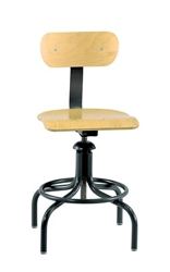 """Height Adjustable Maple Plywood Chair with Footrest- 20""""-28""""H, 51754"""