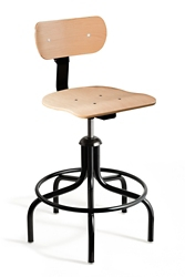 """Height Adjustable Maple Plywood Chair with Footrest- 22""""-27"""" H, 51755"""