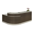 "Esquire Glass Top Reception Desk - 79""W x 63""D, 10327"