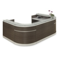"Esquire Glass Top U-Shaped Reception Desk - 126""W x 94""D, 10328"