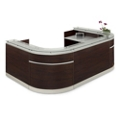 "Esquire Glass Top Compact U-Shaped Reception Desk - 126""W x 79""D, 10329"