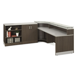 Esquire Curved Reception Station with Storage, 10330