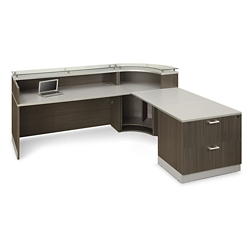 Esquire Curved Reception Station with ADA Return and File, 10331