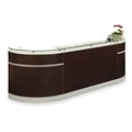 "Esquire Glass Top Arc Shaped Reception Desk - 126""W x 32""D, 10347"