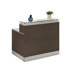 "Esquire Glass Top Reception Desk - 48""W x 32""D, 10351"