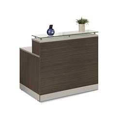 "Esquire Glass Top Reception Desk - 48""W x 32""D, 10351"